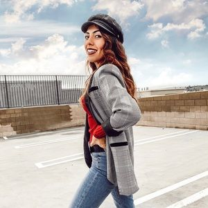 Jackets & Coats - Checkered Blazer